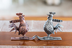 "Jim Pollock ""Year of the Rooster"" Pewter Statue - SET"