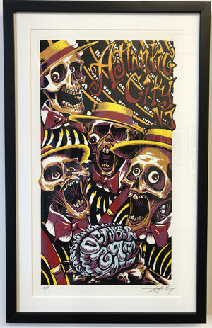 "AJ Masthay ""Atlantic City Halloween"" Triptych - Framed"