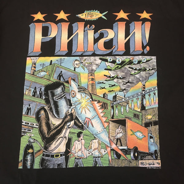 T-Shirt: Black '93 Phish Factory - XL