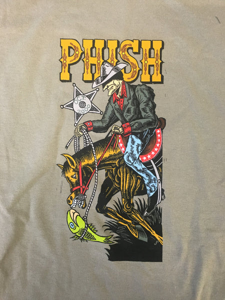 T-Shirt: Light Brown Shoreline Cowbody / Phish Fall '00 tour