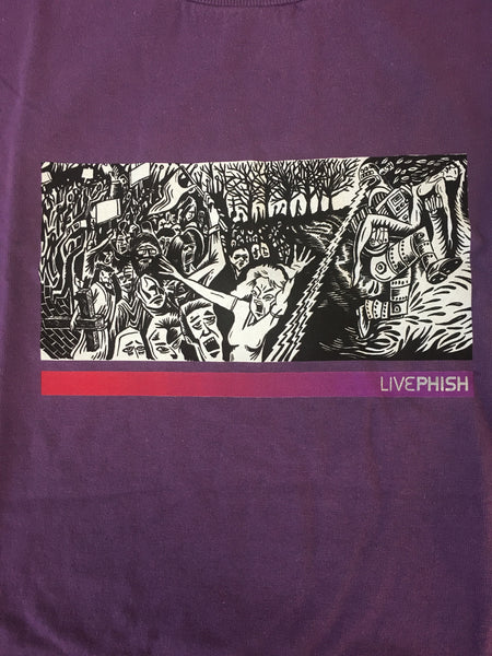 T-Shirt: Purple Live Phish (screaming lady) - XL