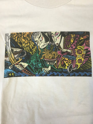 T-Shirt: Light Tan Live Phish (kabuki spaghetti) - L