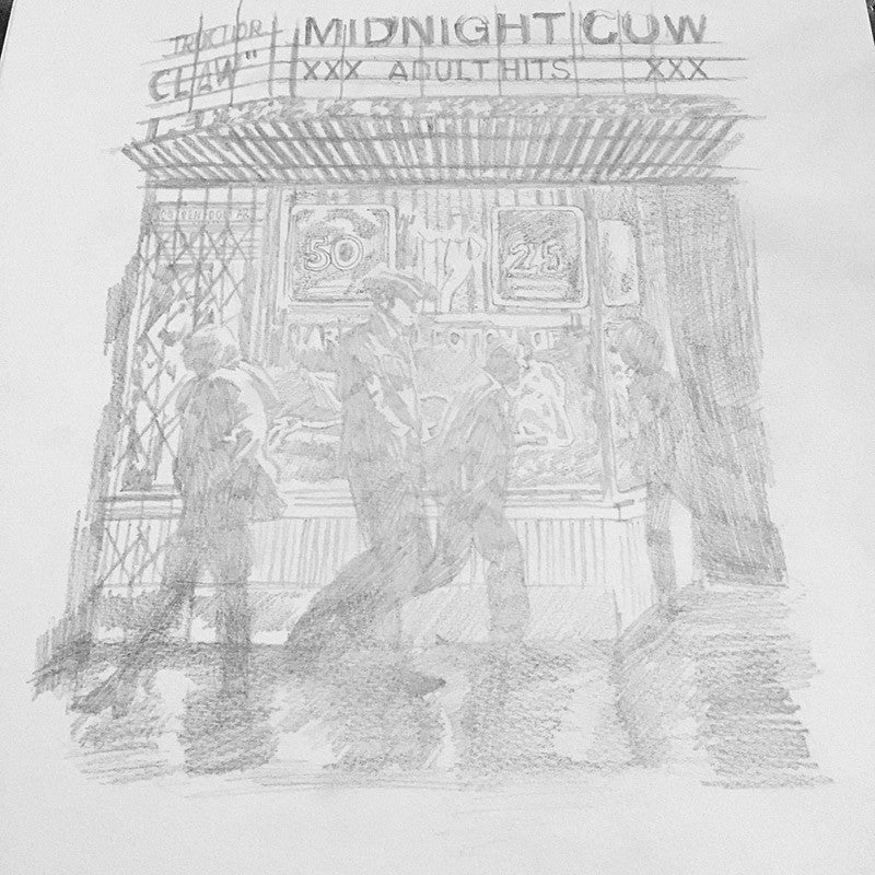 "Raid71 ""Sketch-Midnight Cowboy #1"" Framed"