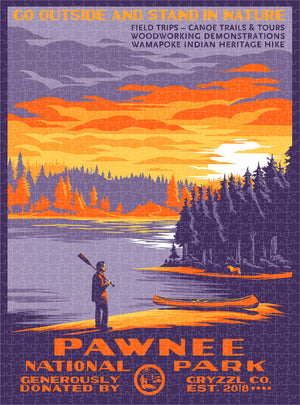 Pawnee National Park (Variant) - 1000pc Puzzle + Poster