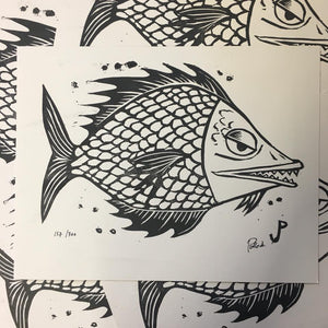 "Jim Pollock ""Fish (White Colorway)"""