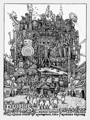 "David Welker ""Primus - Dallas"" Line Art"