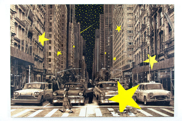 "Roamcouch ""When You Wish Upon A Star - NY"" Sepia"