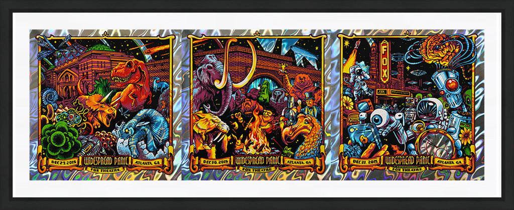"AJ Masthay ""Widespread Panic - NYE Triptych"" Lava Foil"