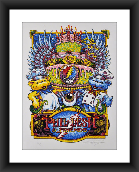 "AJ Masthay ""Phil Lesh & Friends - Capitol Theatre"" Watercolor"