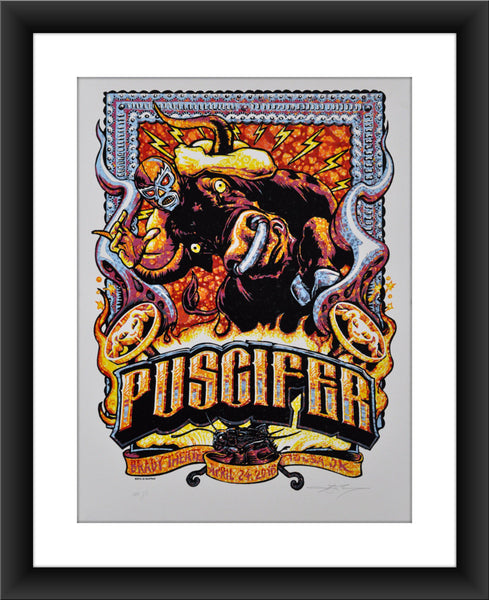 "AJ Masthay ""Puscifer - Tulsa, OK"" Watercolor"