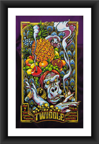 "AJ Masthay ""Twiddle - Capitol Theatre"" Purple Foil"