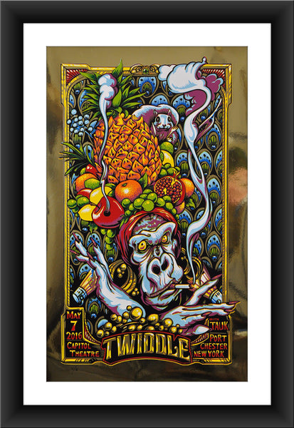 "AJ Masthay ""Twiddle - Capitol Theatre"" Gold Foil"