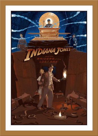"Laurent Durieux ""Indiana Jones and The Raiders of The Lost Ark"" Wood Variant"