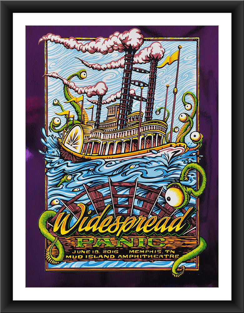 "AJ Masthay ""Widespread Panic - Mud Island"" Purple Foil"