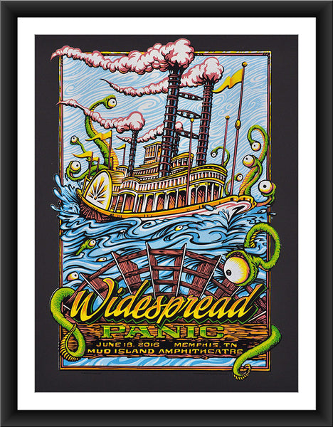 "AJ Masthay ""Widespread Panic - Mud Island"" Ultra Black"