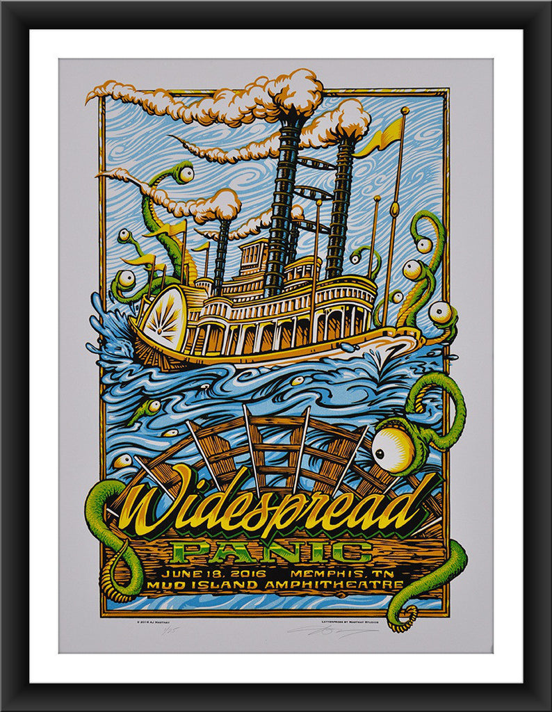 "AJ Masthay ""Widespread Panic - Mud Island"" Tan Colorway"