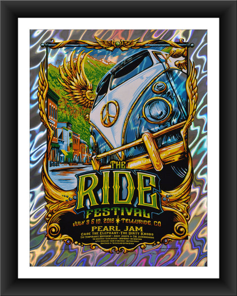 "AJ Masthay ""The Ride Festival"" Lava Foil"