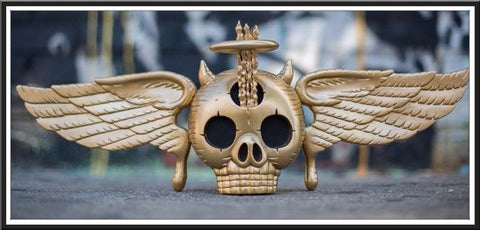 "David Welker ""Skully"" Gold Edition Vinyl Statue"