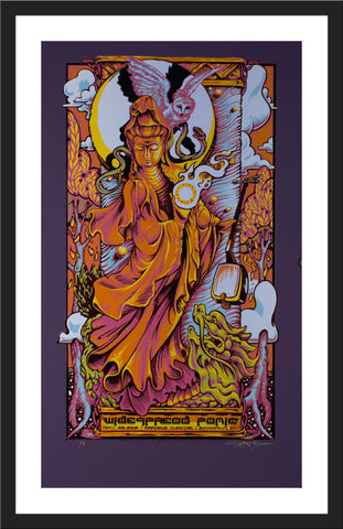 "AJ Masthay ""Widespread Panic - Minneapolis"" Purple Plike"