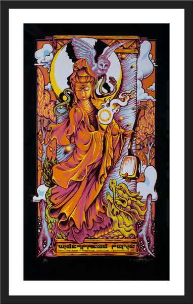 "AJ Masthay ""Widespread Panic - Minneapolis"" Black Foil"