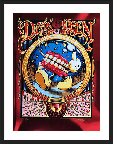 "AJ Masthay ""Dean Ween Group - Brooklyn Bowl & Toads Place"" Red Mirror Foil"