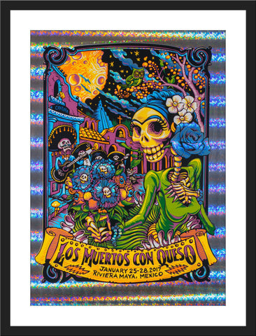 "AJ Masthay ""Los Muertos con Queso"" Stained Glass Foil"