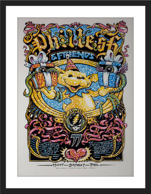 "AJ Masthay ""Phil Lesh 77th Birthday Run"" Watercolor"