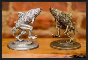 "Jim Pollock ""Walking Fish"" Pewter Statue - SET"