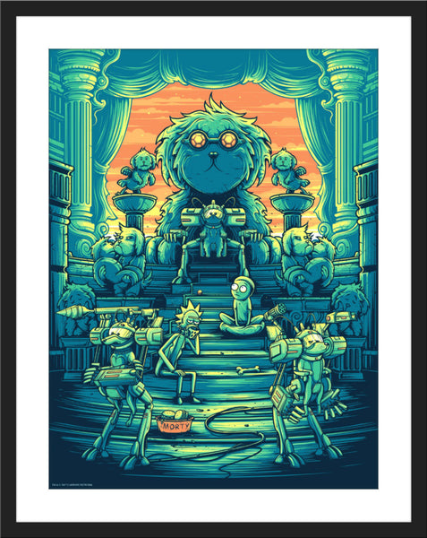 "Dan Mumford ""You shall now call me Snowball, because my fur is pretty and white"" Orange Sky Variant"