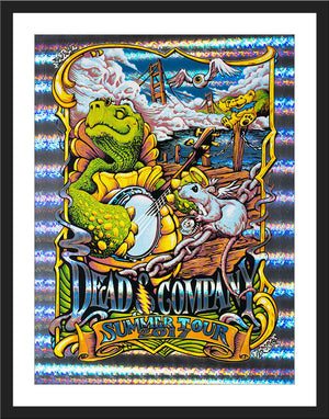 "AJ Masthay ""Dead & Co. - Wharf Rat"" VIP - Stained Glass Holographic Foil"