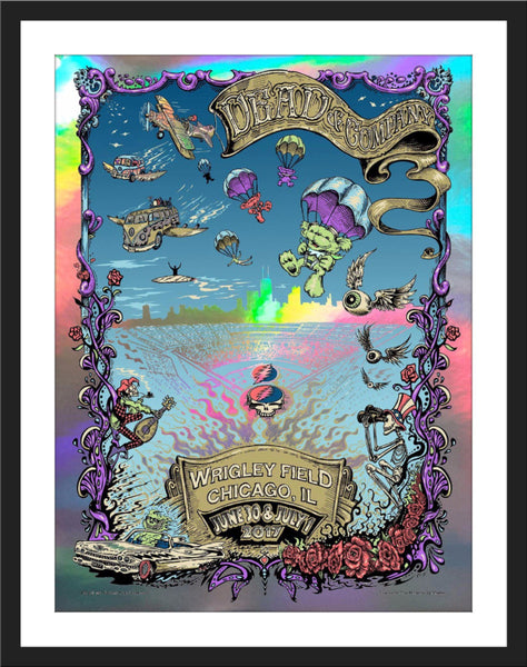 "AJ Masthay ""Dead & Co. - Wrigley Field"" Collaboration Print"