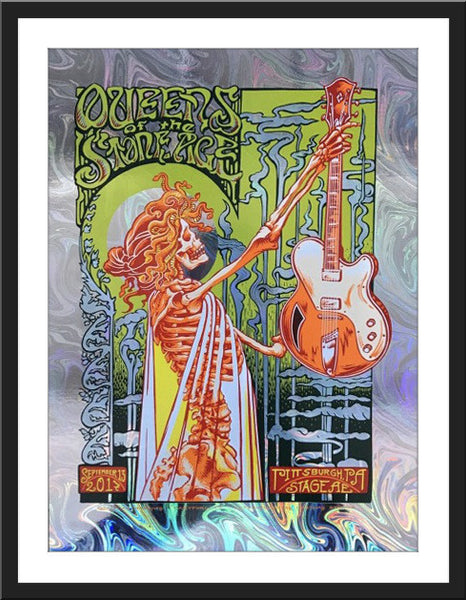 "AJ Masthay ""Queens of the Stone Age - Pittsburgh"" Oil Slick Foil"