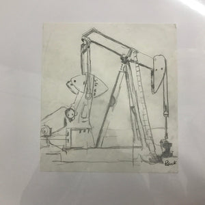 '09 Oil Rig OG Pencil Sketch
