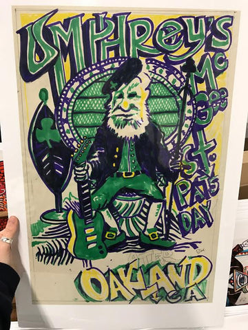Umphrey's Mcgee Oakland St. Patty's Marker & Pencil Sketch OG