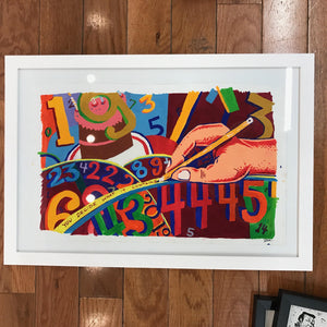 "Jim Pollock ""Phish Joy: Backwards Down the Number Line OG 2009"" Painting"