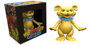 "AJ Masthay ""Dancing Bear - Vinyl Statue"" Yellow"