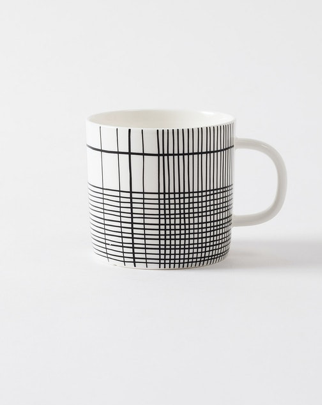 Plaid Coffee Cup