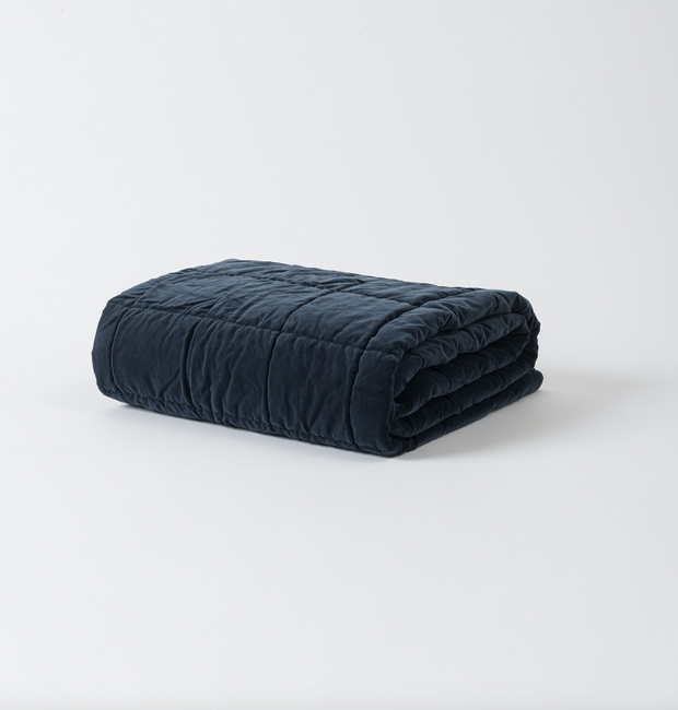 Washed Velvet Square Stitch Quilted Throw (OTHER COLOURS)