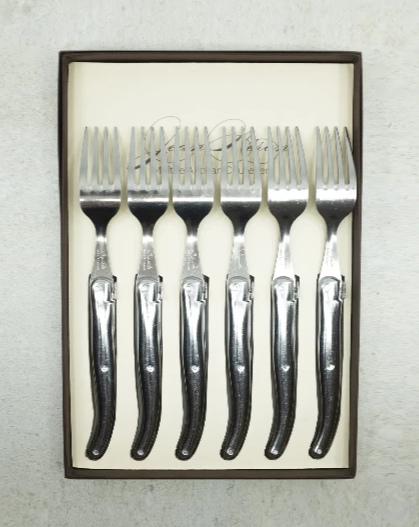 Laguiole French Stainless Steel Cutlery Set 6  (FORKS)