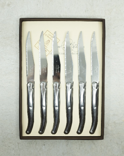 Laguiole French Stainless Steel Cutlery Set 6 (KNIVES)