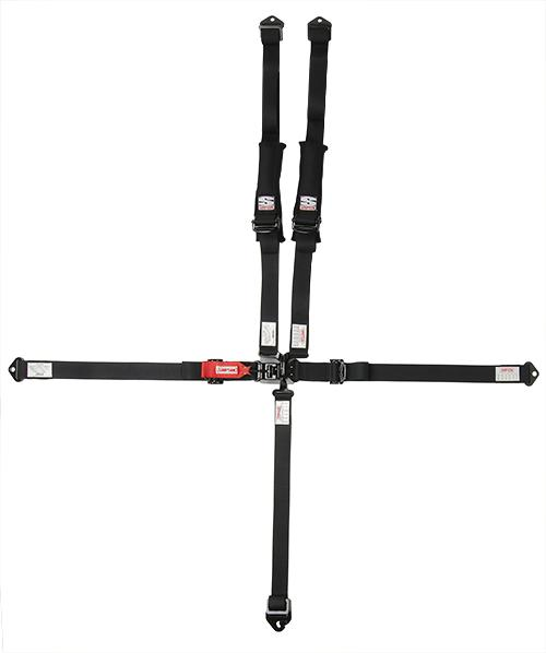 "Latch & Link Harness - 2""x2"" - Black Hardware-Seats & Harness-Simpson-Black-No Pads-Bolt-In-Black Market UTV"