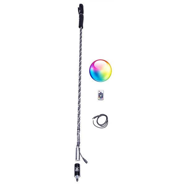5150 LED Whip (Single Whip)-Whips-5150-2 FT Long-Remote Control-Black Market UTV