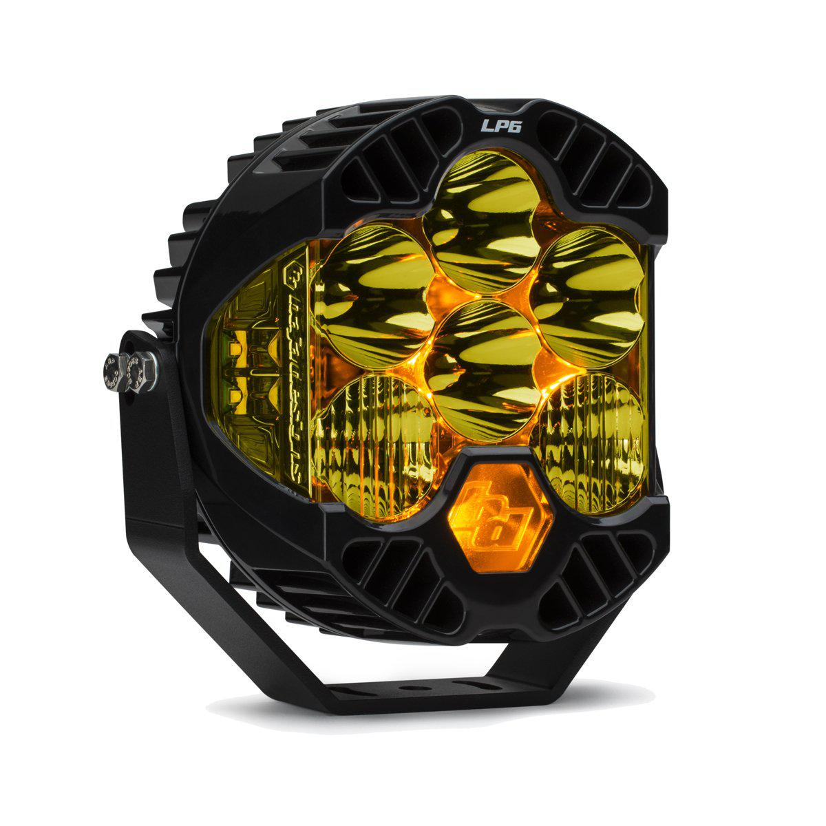 LP6 Pro LED-Lighting Pods-Baja Designs-Driving Combo-Amber-Black Market UTV