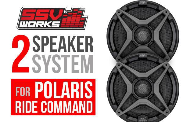 RZR Turbo S SSV Works 2 Speaker Plug & Play System - Ride Command-Stereo-SSV Works-Grey-No Thanks-Black Market UTV