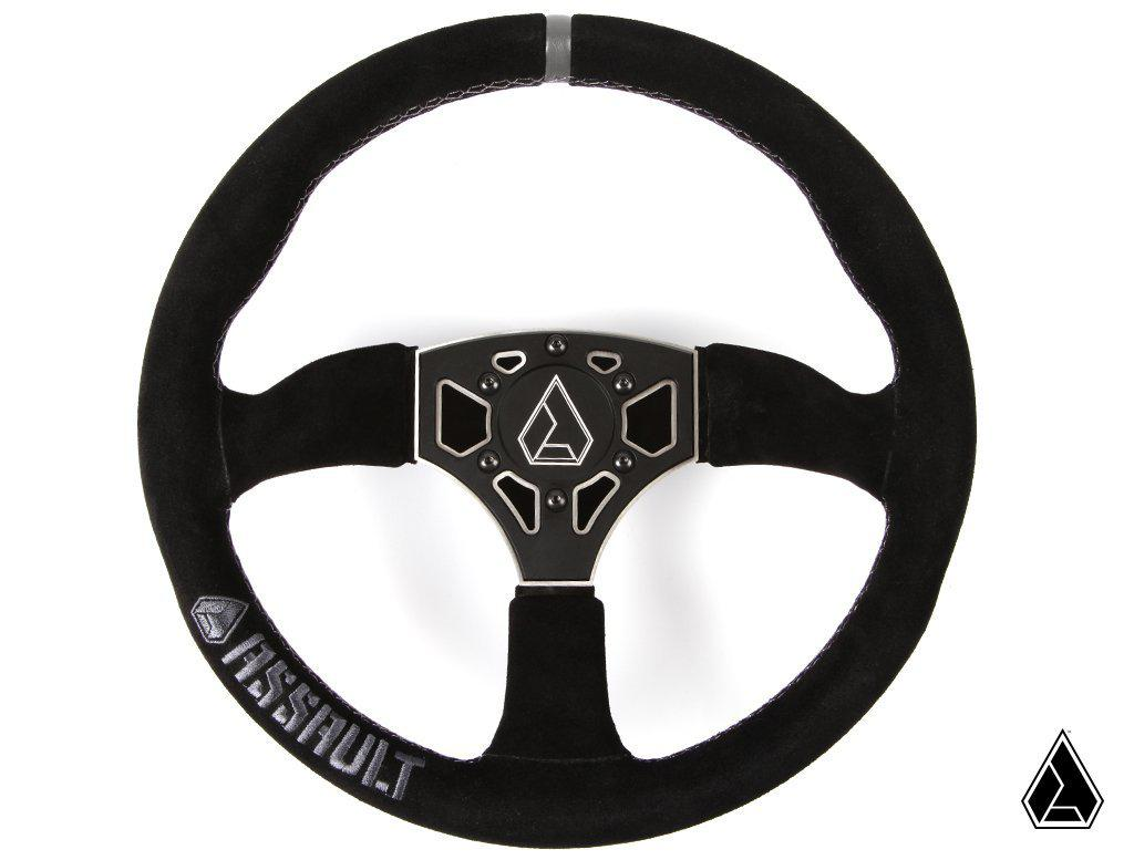 Assault Industries 350R Suede Steering Wheel-Interior-Assault Industries-Raw-Black Market UTV