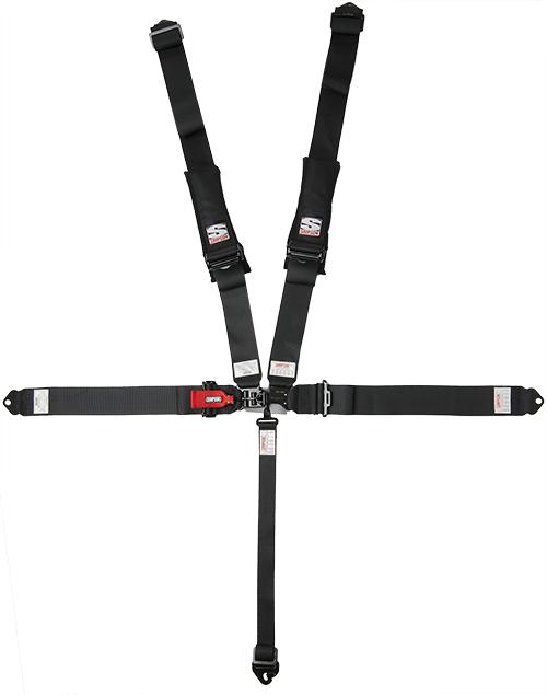 "D3 Harness - 3""x3"" - Black Hardware-Seats & Harness-Simpson-Black-No Pads-Bolt-In-Black Market UTV"
