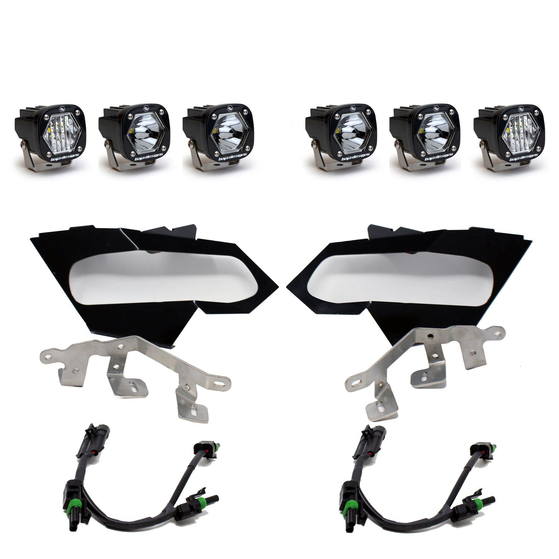 Baja Designs S1 Spot and Wide Cornering Headlight Kit-Headlight Kit-Baja Designs-Black Market UTV
