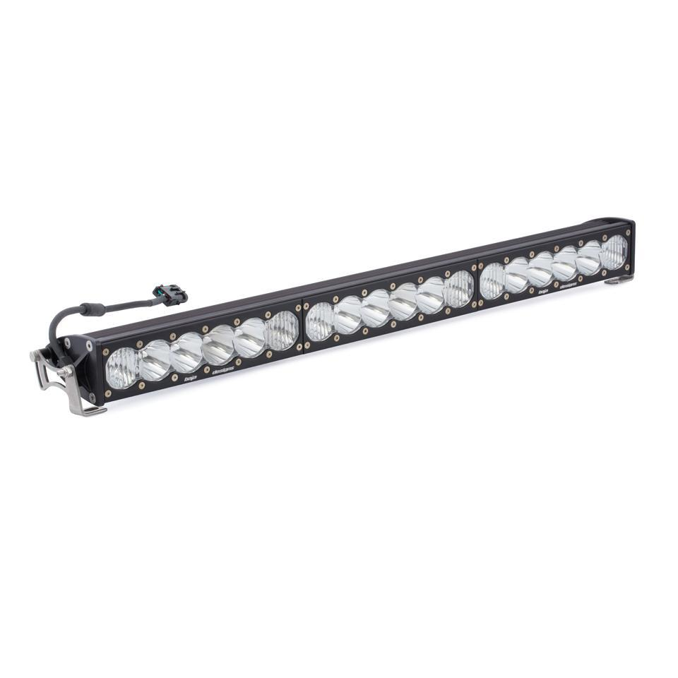 "30"" OnX6+ LED Light Bars-Light Bars-Baja Designs-Driving/Combo-White-Straight-Black Market UTV"