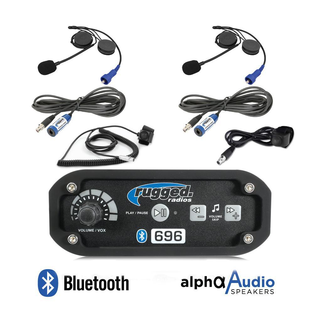 RRP696 2-Place Intercom System with Alpha Audio Helmet Kits-Intercom-Rugged Radio-Black Market UTV