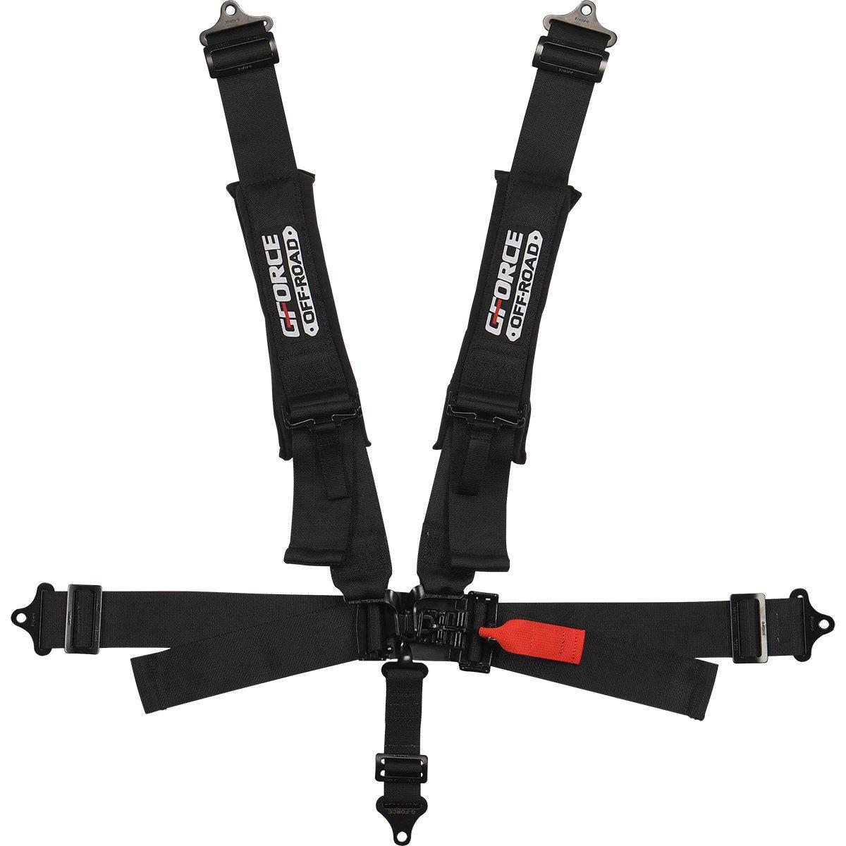 UTV SFI 5PT PD-LAP IND-SHLD L&L BLACK [RACING APPROVED]-Harness-G-Force-Black Market UTV